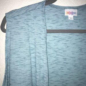 Light Blue Joy Heathered Ribbed BNWT LuLaRoe XL